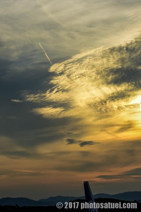長崎空港の夕日