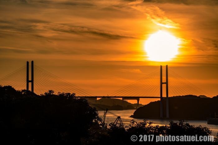 夕日の女神大橋
