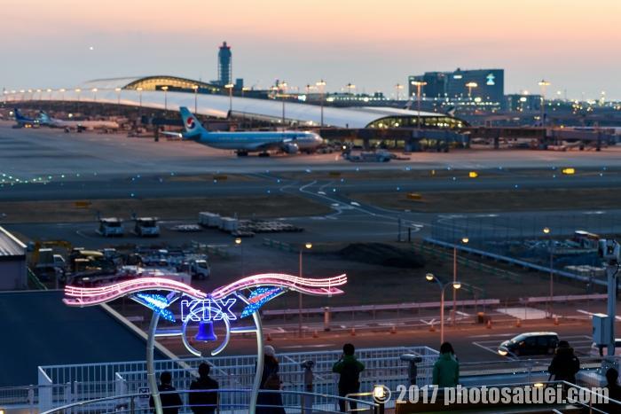 大阪 夜の関西国際空港