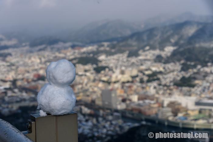 雪の稲佐山